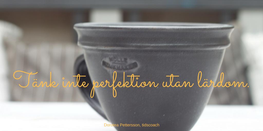 Tänk inte perfektion utan lärdom