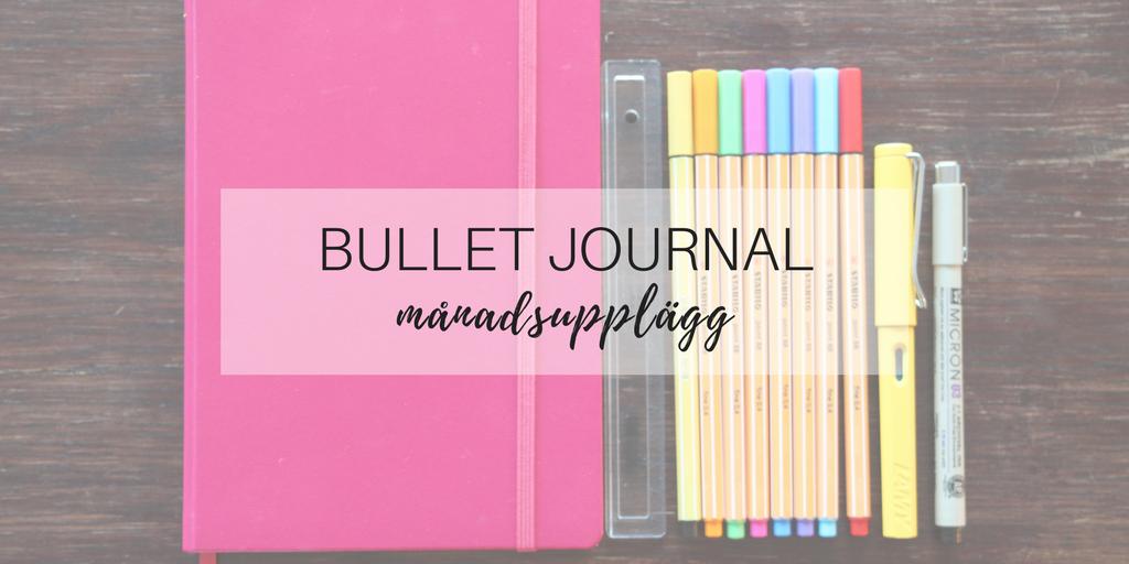 Bullet Journalfilm månadsupplägg