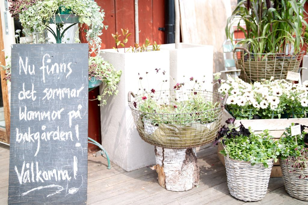 cykeltur till blomsterhandeln