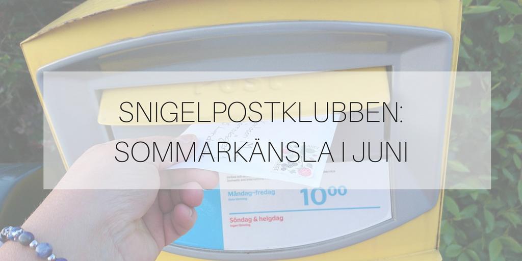 Snigelpostklubben: sommarkänsla i juni