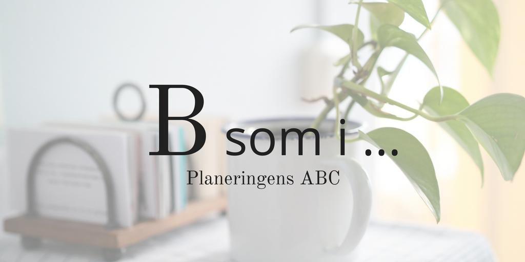 Planeringens ABC