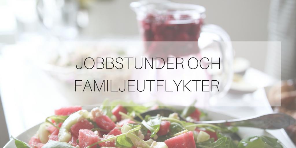Jobbstunder och familjeutflykter