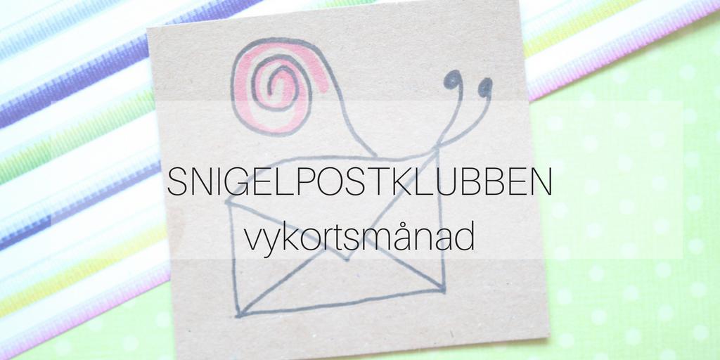 Snigelpostklubben vykortsmånad
