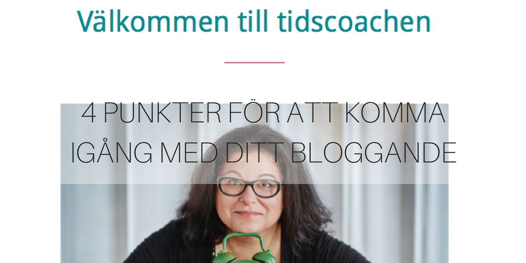 4 punkter för att komma igång med ditt bloggande