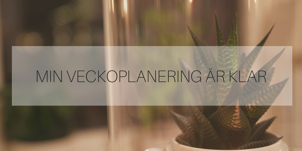 veckoplanering