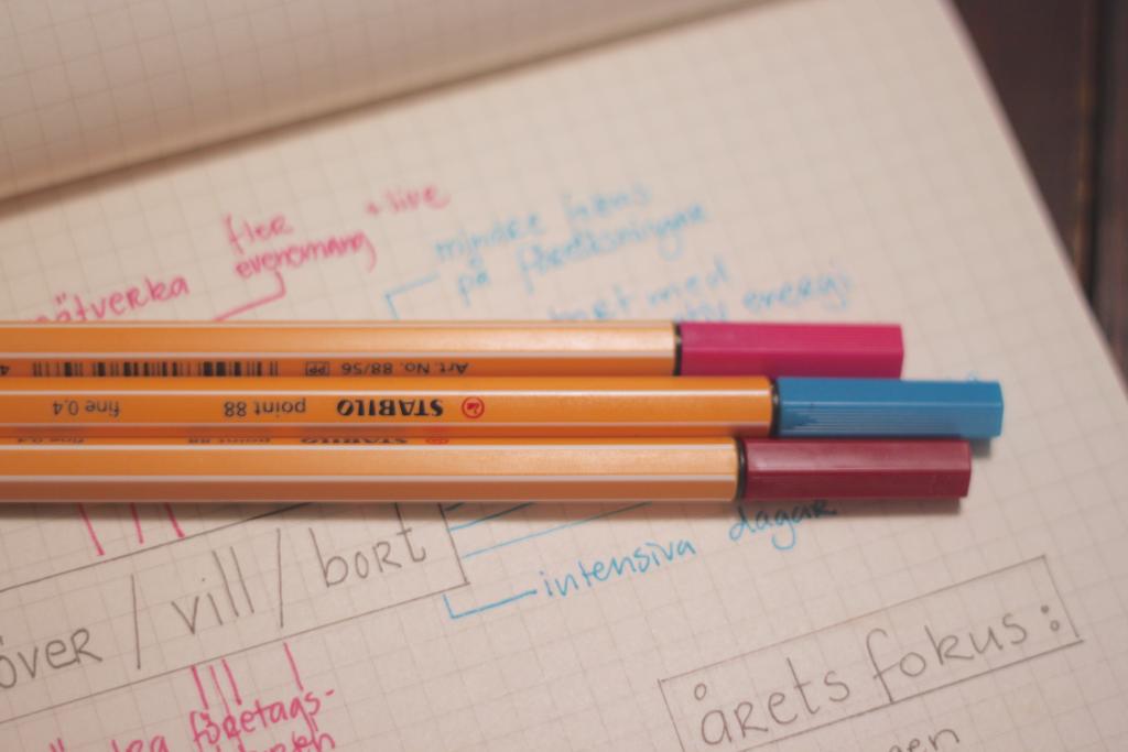 enkel och färgglad utvärdering