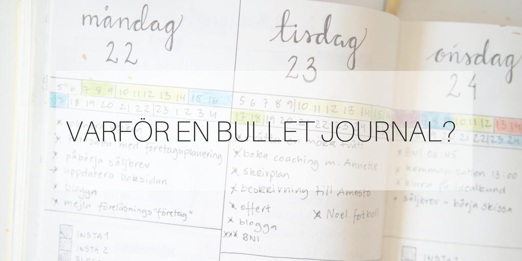 varför en bullet journal