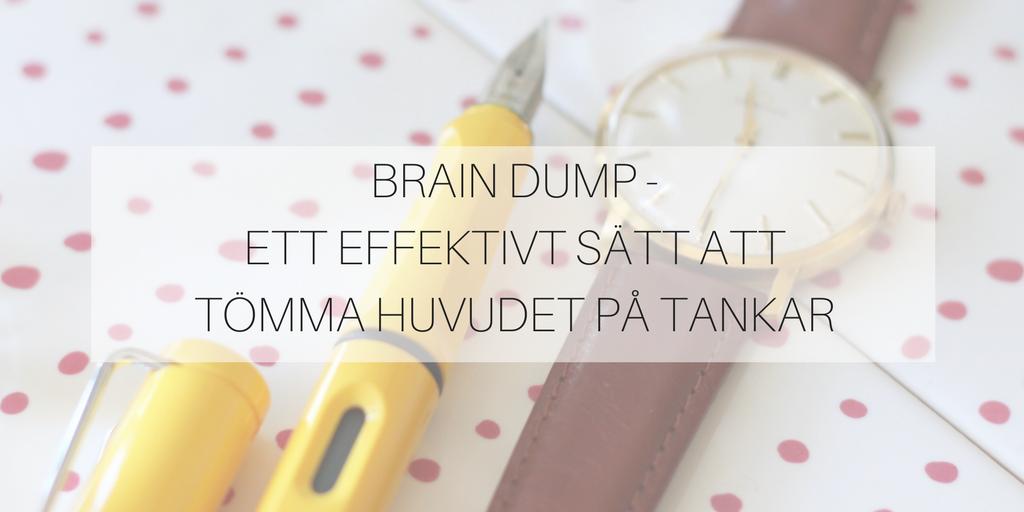 """""""Brain dump"""" – ett effektivt sätt att tömma huvudet på tankar"""