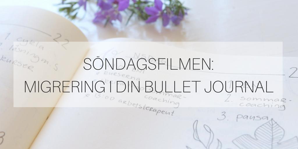 Söndagsfilmen: migrering i din Bullet Journal