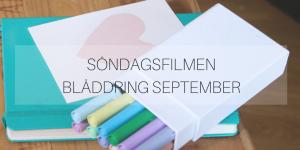 Söndagsfilmen: Bläddring september
