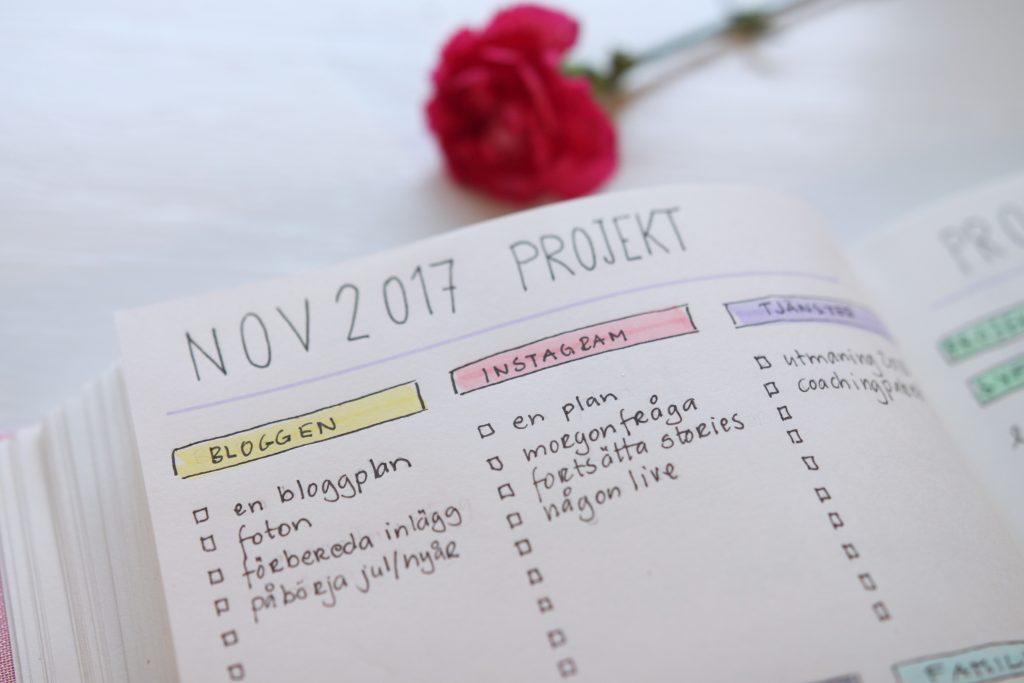 projektplanering i din bullet journal