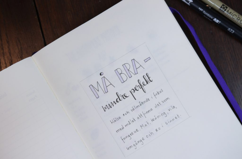 Hälsa i min Bullet Journal