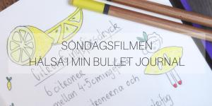 Söndagsfilmen: Hälsa i min Bullet Journal