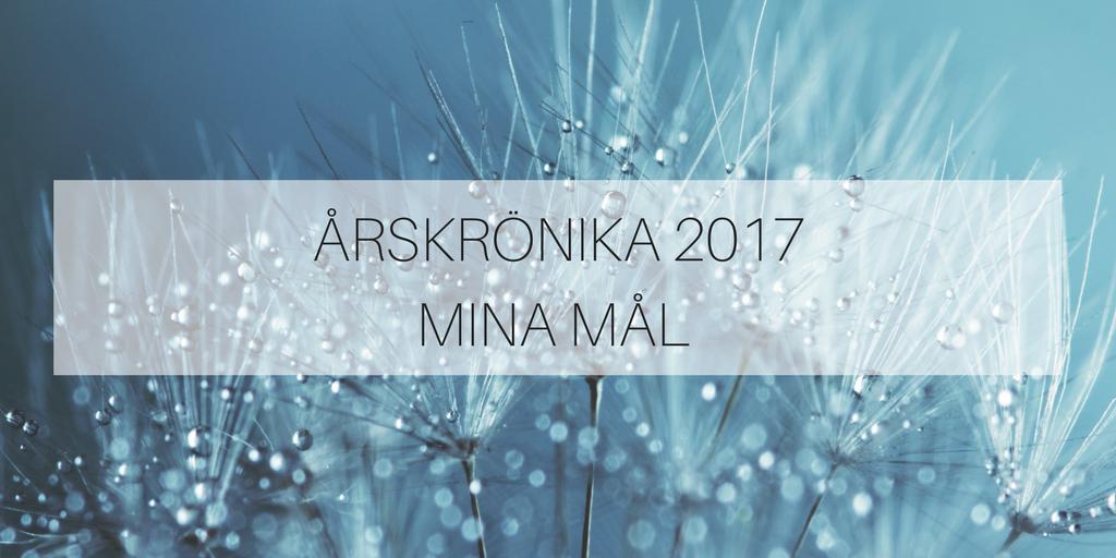 Årskrönika – mina mål 2017