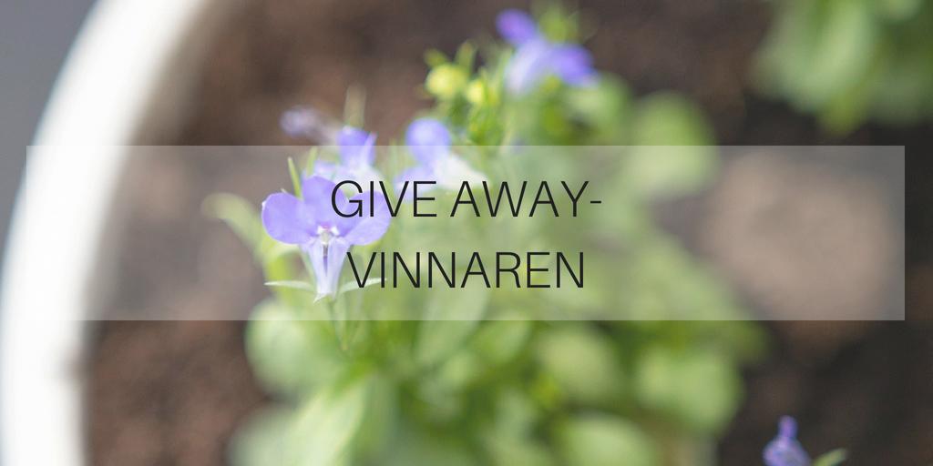 Give Away-vinnaren
