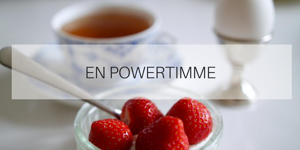 En powertimme – ett effektivt sätt att starta din dag