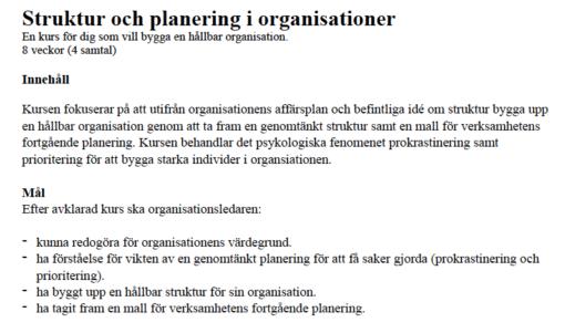 Struktur och planering i organisationer